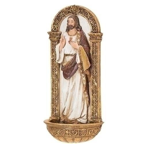 "7.25""SACRED HEART O/JESUS FONT"