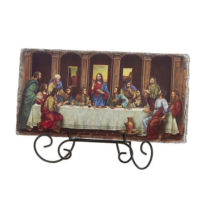 "Last Supper Adams 10.5"" W Tile Plaque"