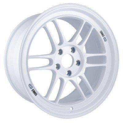 Enkei RPF1 18x9.5 5x114.3 38mm Offset 73mm Center Bore Vanquish White Wheel Mazdaspeed
