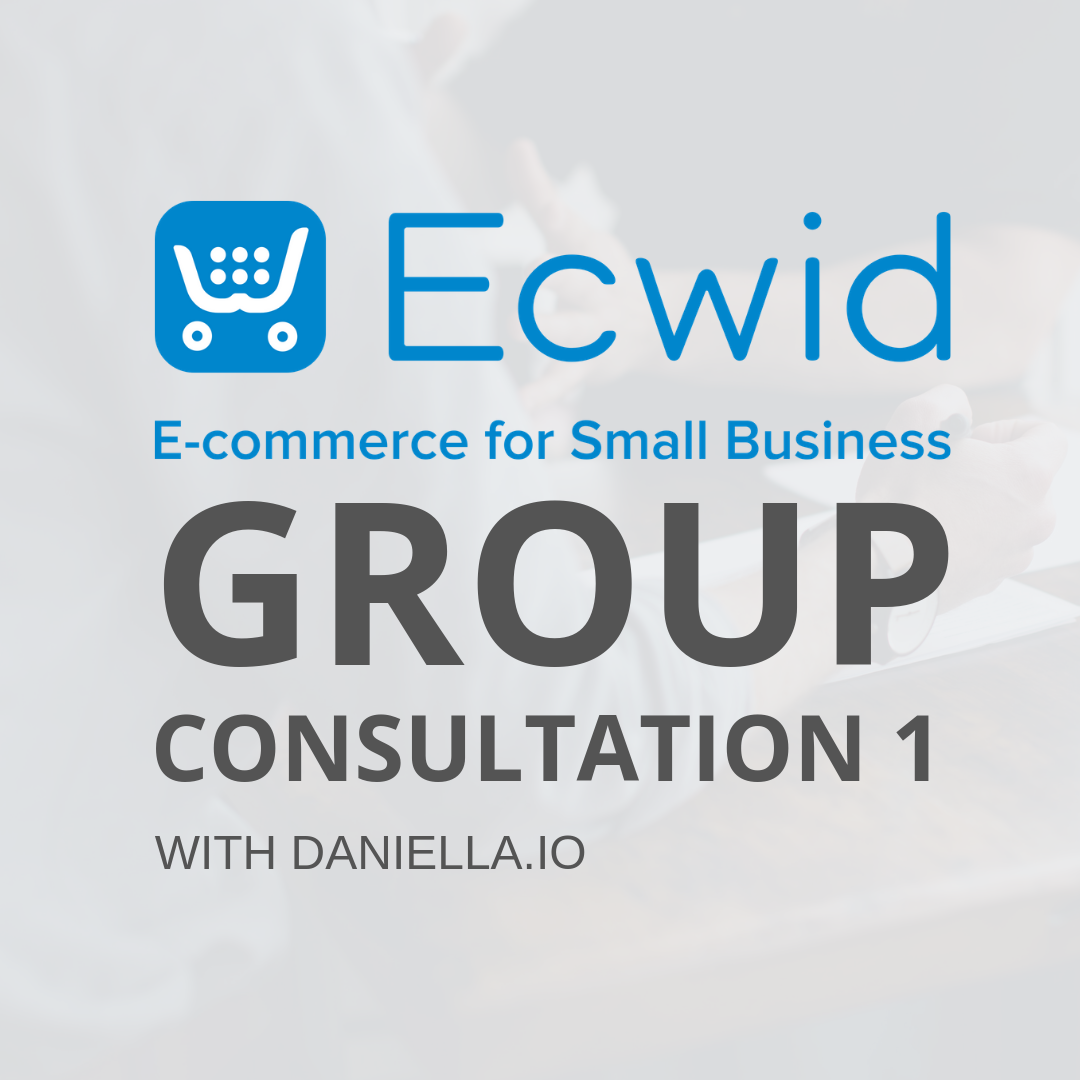 Ecwid Consultation 1 | Links CONS1