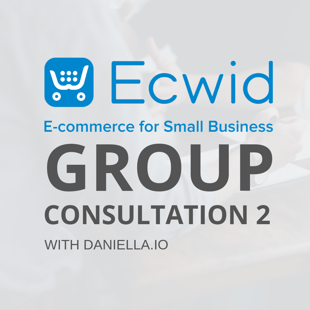 Ecwid Consultation 2 | Links CONS2