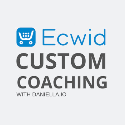 Custom Ecwid Store Coaching