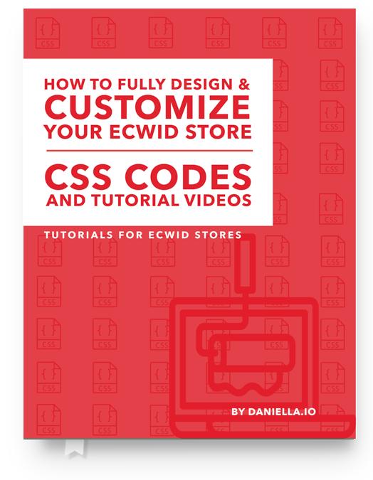 Ecwid CSS Codes eBook