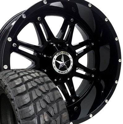 22x12 Lonestar Gloss Black  Outlaw + 35
