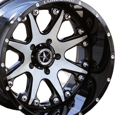 20x12 Gloss Black & Brushed Face Bandit Wheel, 5x5.5(5x139.7mm)