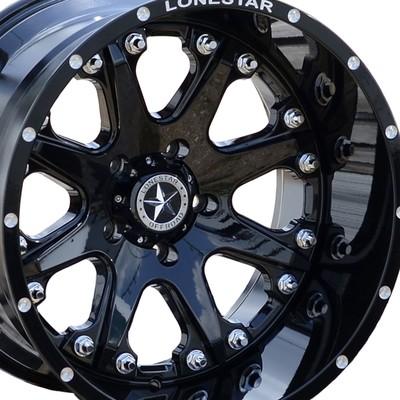 20x12 Gloss Black Lonestar Bandit Wheel, 5x5.5 (5x139.7mm) -44mm Offset