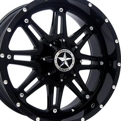 20x9 Gloss Black Outlaw Wheel, 5x5.5 (5x139.7mm) 0mm Offset, Ram 1500