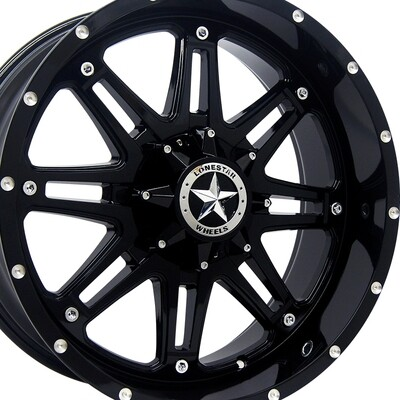 20x9 Gloss Black Outlaw Wheel, 5x5.5 (5x139.7mm) 13mm Offset, Ram 1500