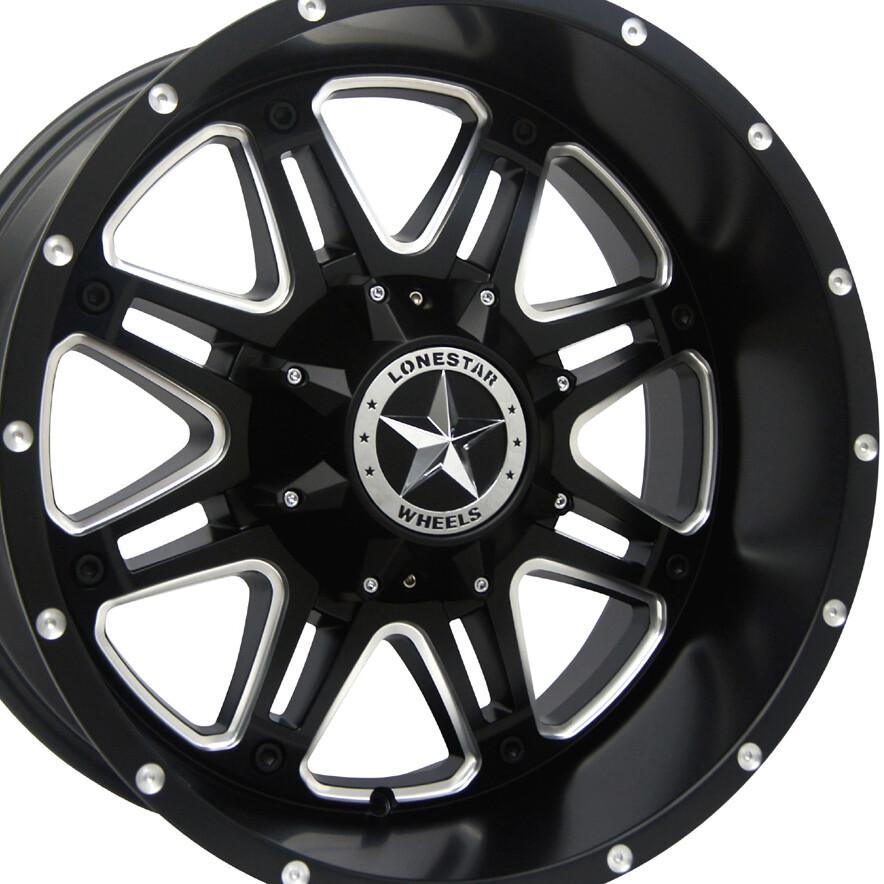 20x10 Matte Black Outlaw Wheel, 8x180mm