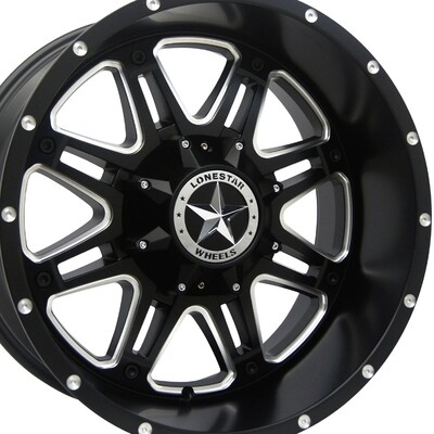 20x10 Matte Black Outlaw Wheel, 8x180mm