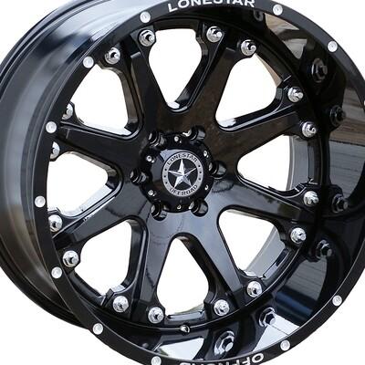 20x12 Gloss Black Lonestar Bandit Wheel, 6x135mm