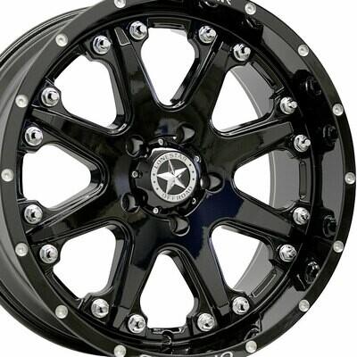 20x9 Gloss Black Lonestar Bandit Wheel, 6X5.5  0mm Offset