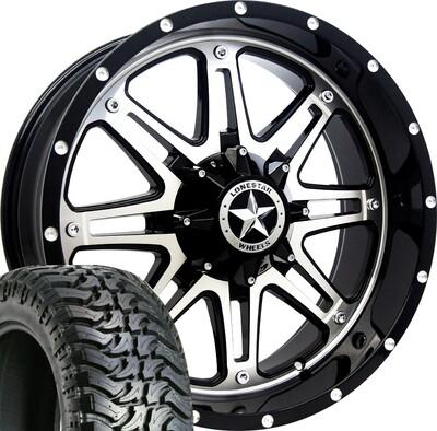 20x9 Mirror Face Lonestar Outlaw Wheel & 33