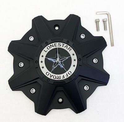 Lonestar Gunslinger Cap - Matte Black - 5/ 6 /8 Lug