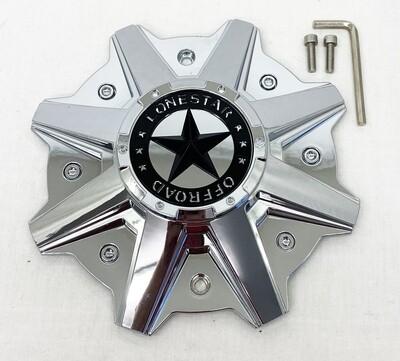 Lonestar Gunslinger Cap - Chrome - 5/ 6 /8 Lug