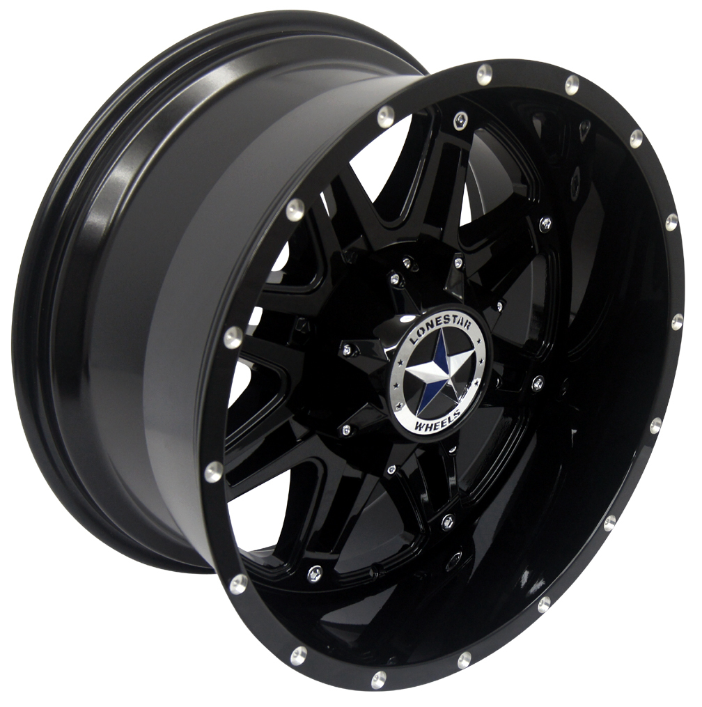305 55r20 In Inches >> 20x10 Gloss Black Outlaw Wheel, 8x6.50 (8x165.1mm), Dodge 2500 Chevrolet | SHOP BY VEHICLE