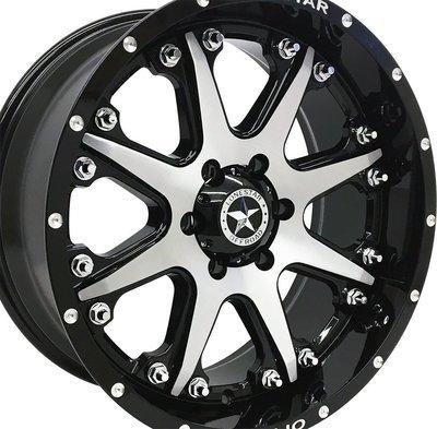 20x9 Gloss Black w/Brushed Face Bandit Wheel, 6x5.5(6x139.7mm) +0mm Offset