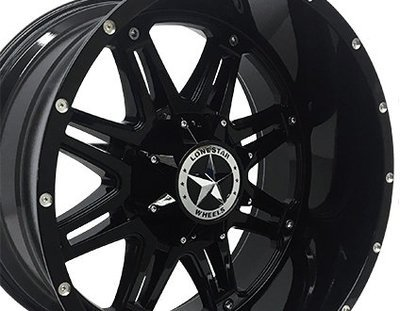 22x12 Gloss Black Outlaw Wheel, 8x170 LUG, F250, 22 Inch
