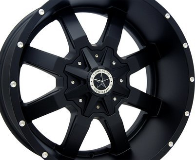 20x10 Matte Black Gunslinger Wheel, 8x6.5 (165.1), -25mm Offset, Dodge 2500, Chevrolet 2500
