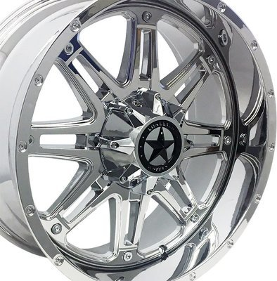 20x9 Chrome Outlaw Wheel, 5x5.5(5x139.7mm) & 5x5(5x127mm) +0mm
