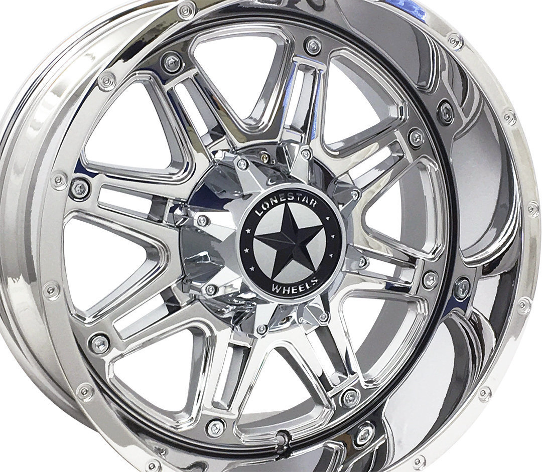 20x10 Chrome Lonestar Outlaw Wheel, 8x170mm