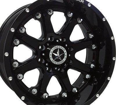 20x10 Gloss Black Lonestar Bandit Wheel, 8x170mm, Ford F250