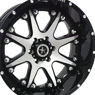 20x10 Gloss Black w/Brushed Face Bandit Wheel, 6x135mm, F150