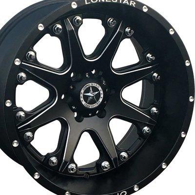 20x12 Matte Black Lonestar Bandit Wheel, 6x135mm