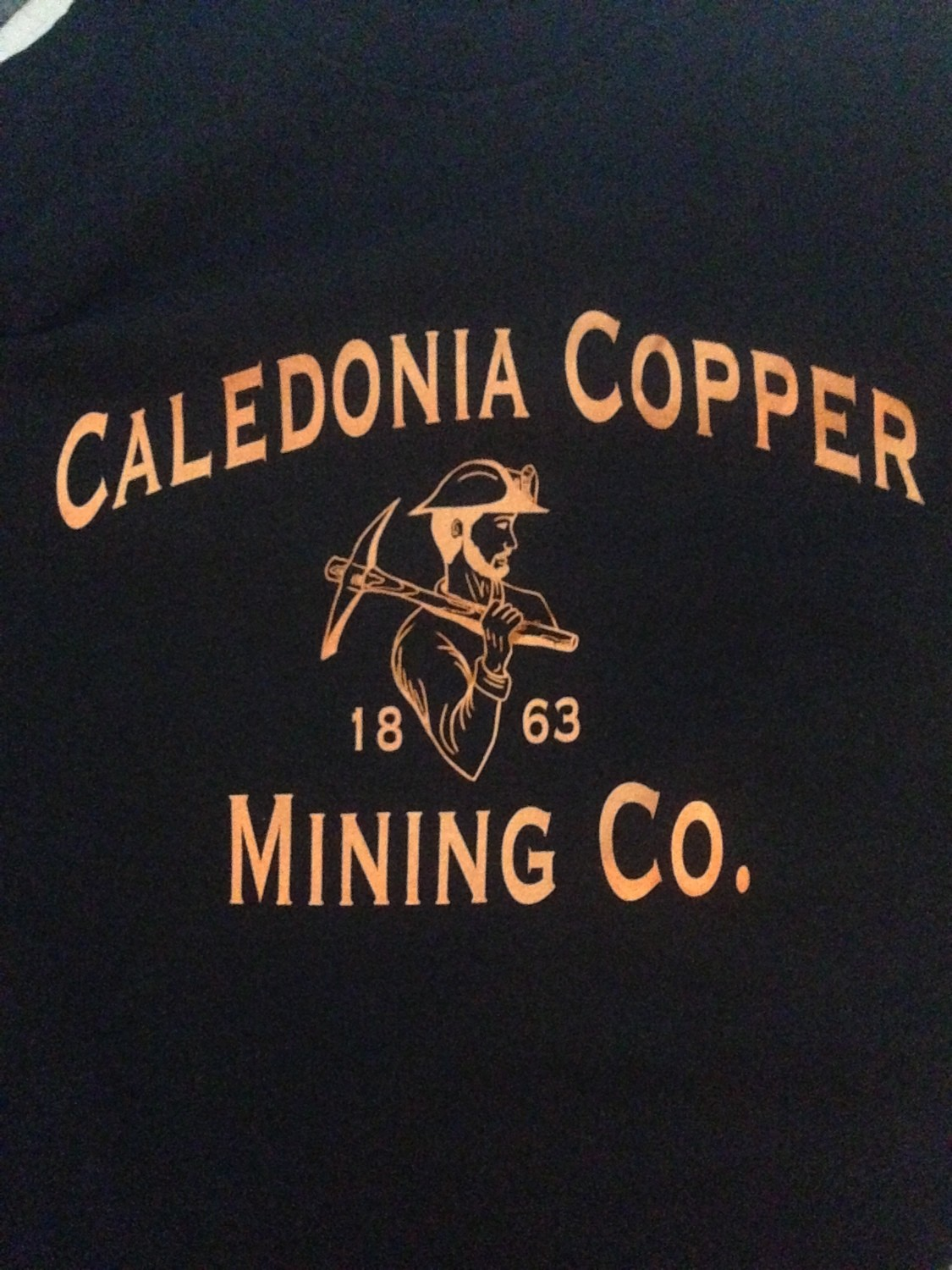 T-shirt - copper lettering