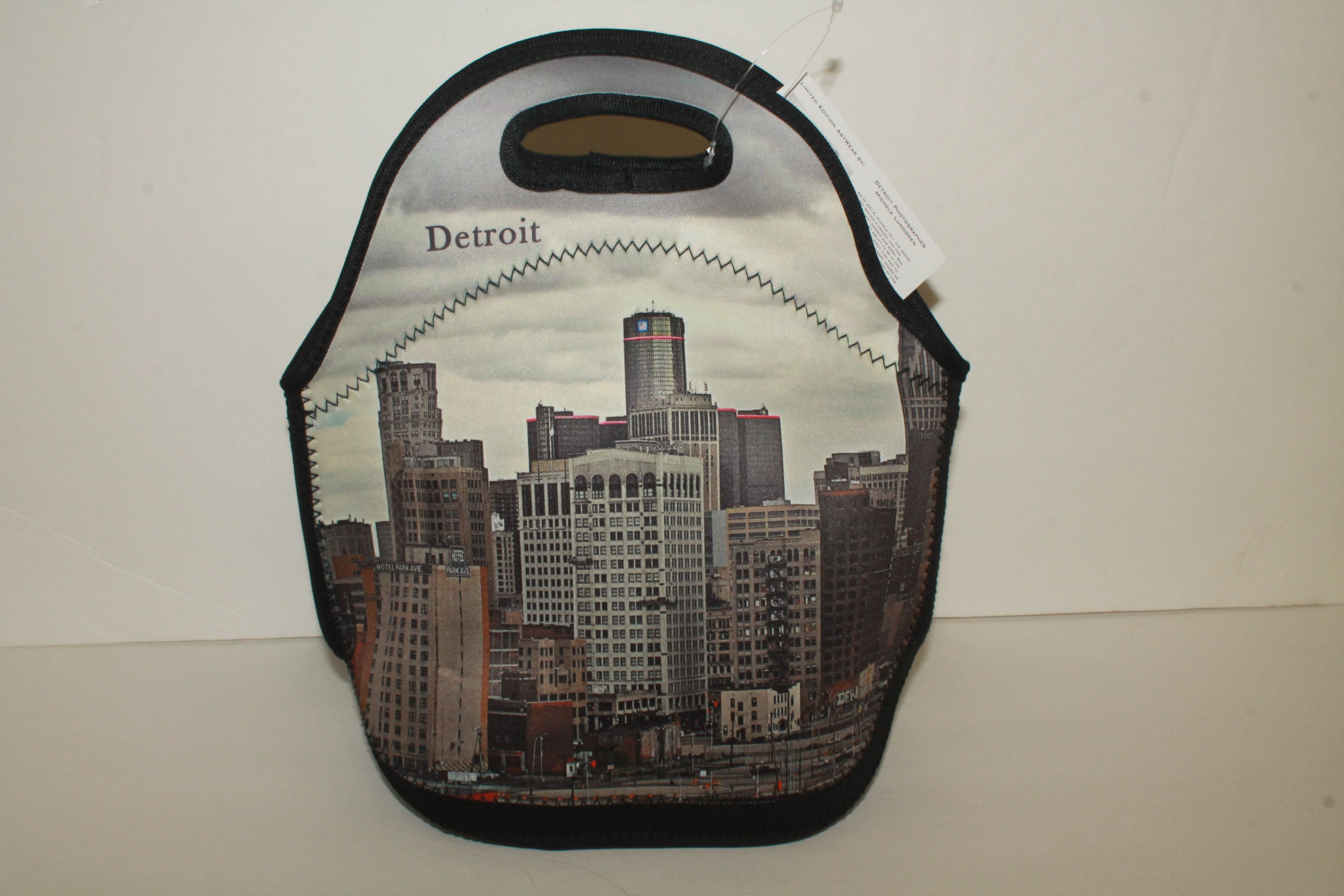 Art Wear Detroit Cooler tote/lunch bag 00019