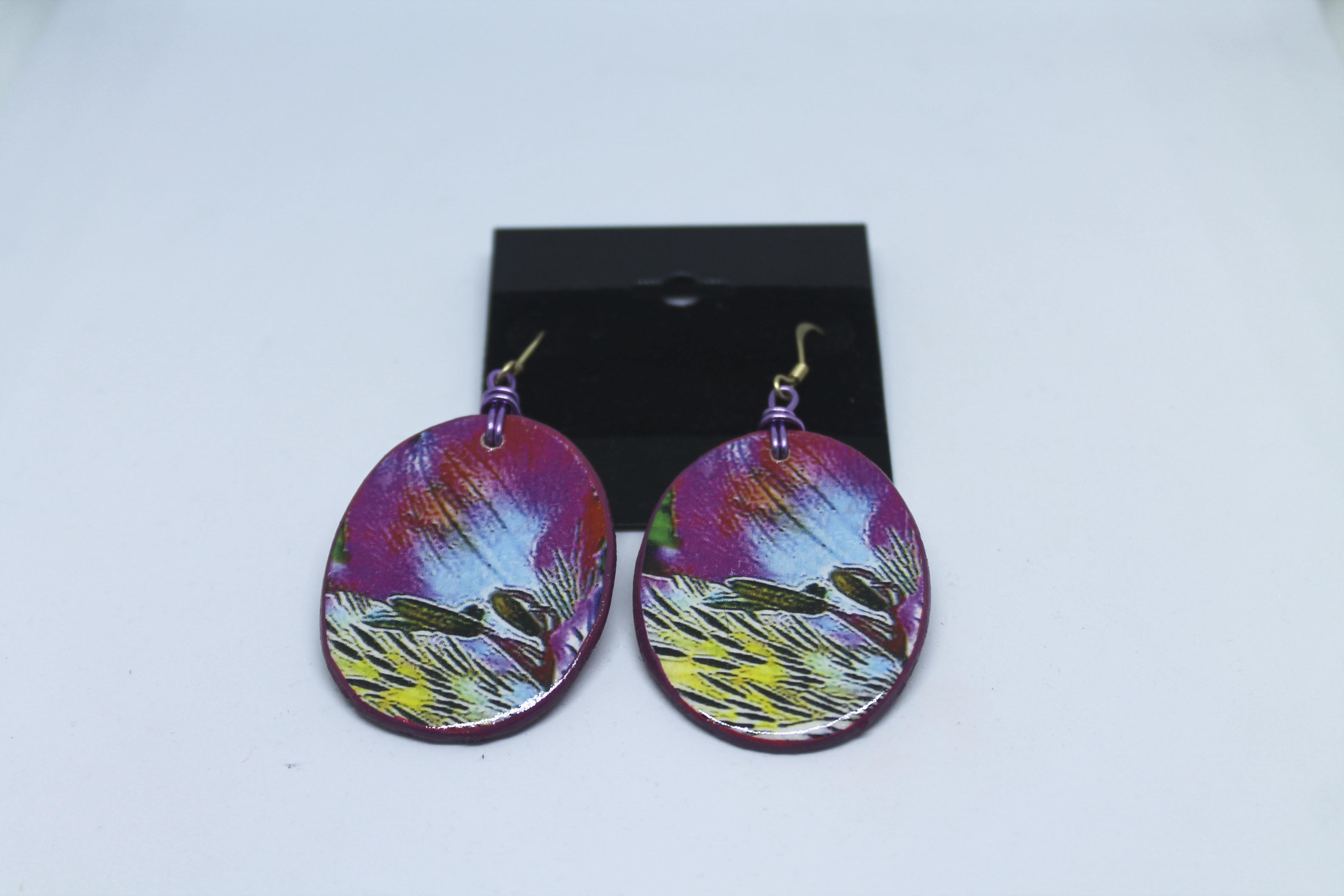 Wood Earrings 00119