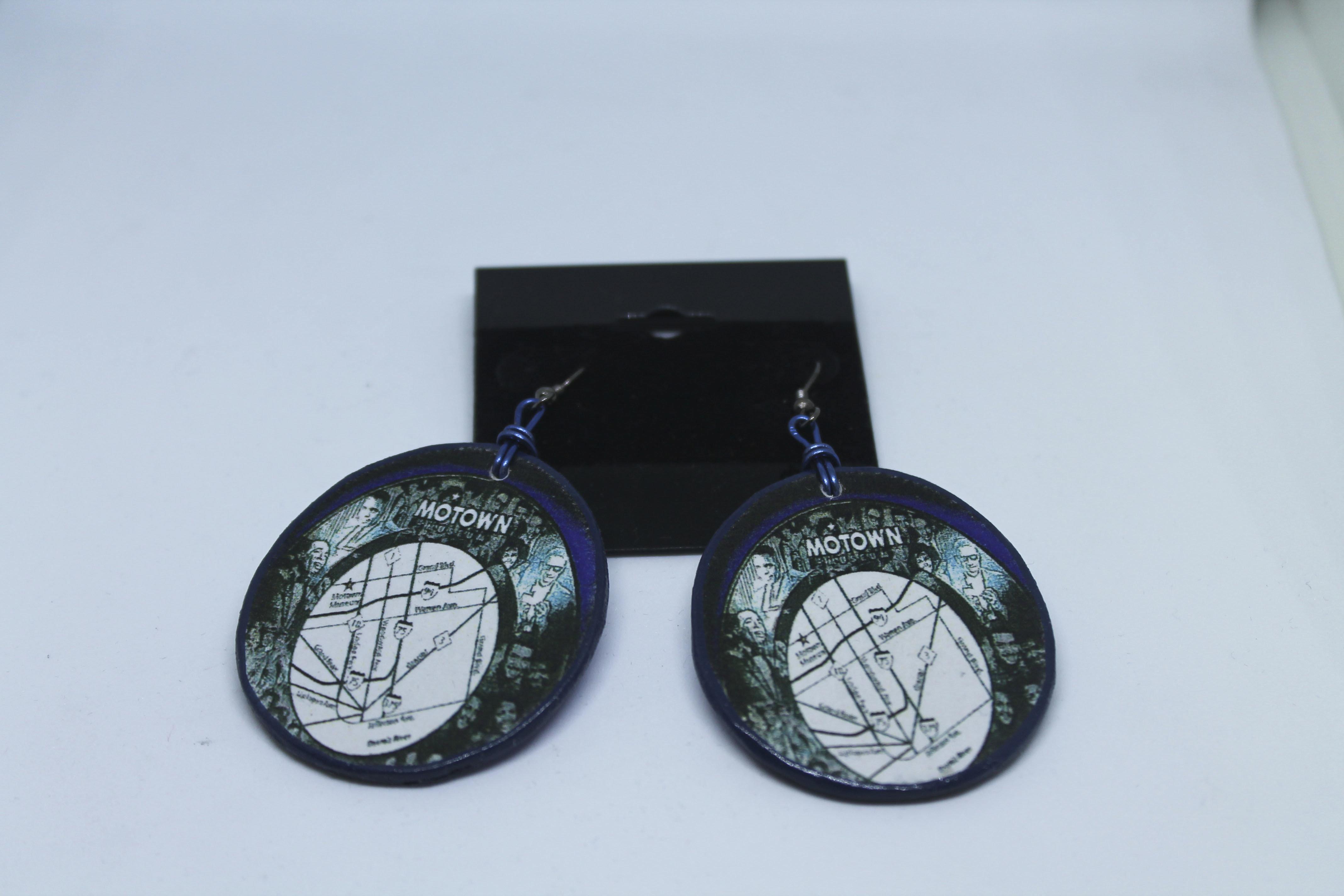Detroit Motown Wood Earrings 00121