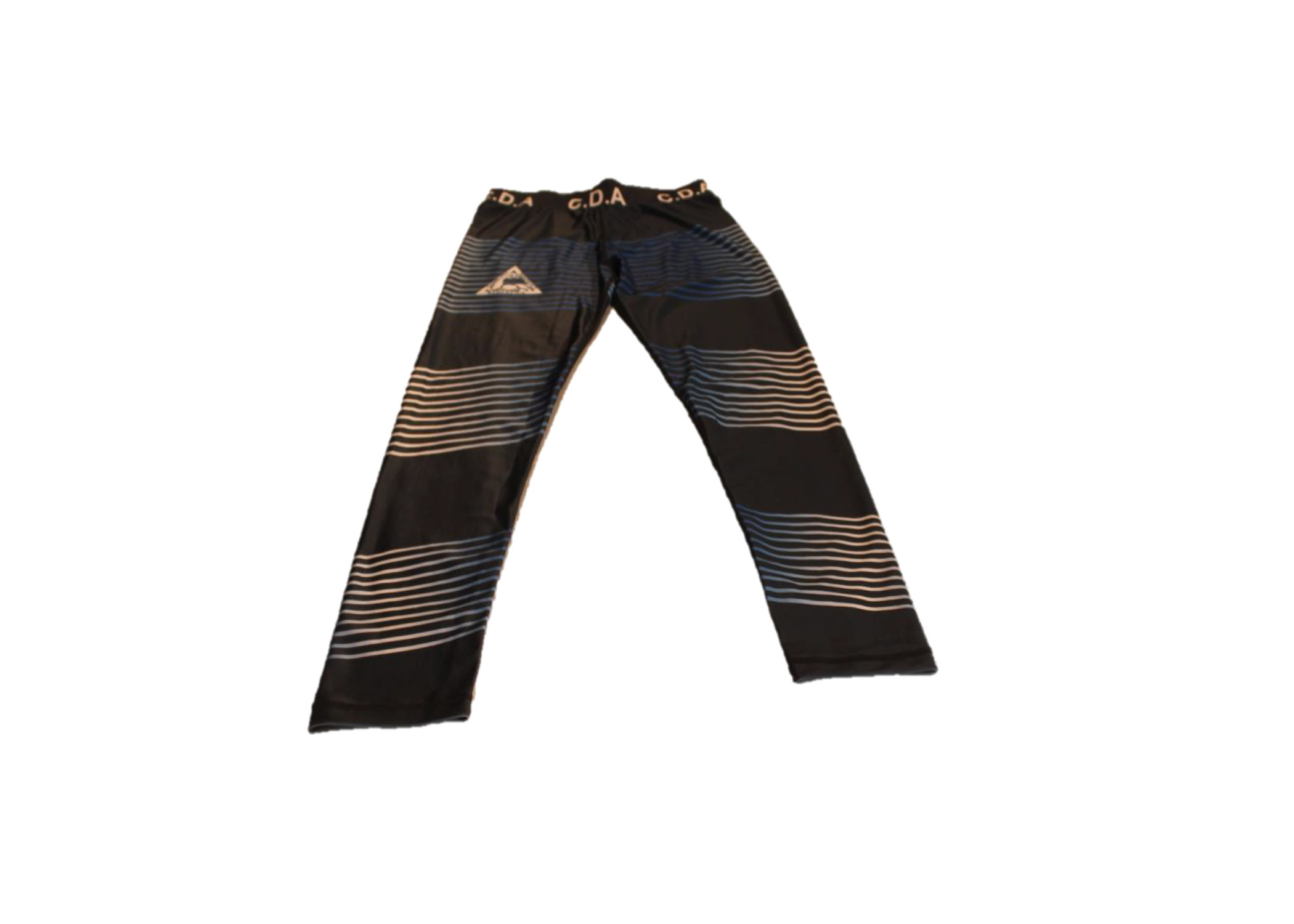CDA Blue and white striped leggings 00237