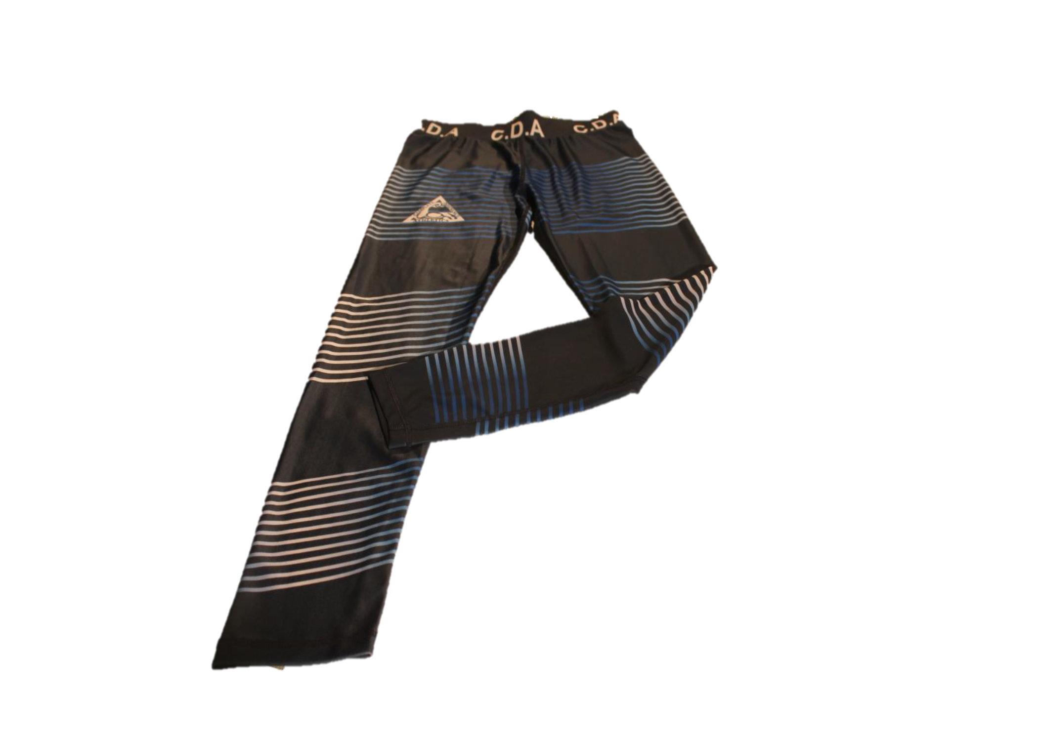 CDA Blue and white striped leggings