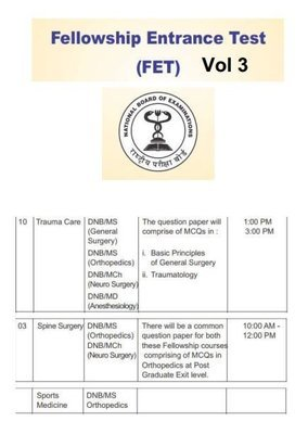 FNB FET NEET SS Questionbank Spine Trauma Sports Medicine hand Vol 3