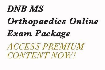DNB MS Orthopaedics Online Exam Package