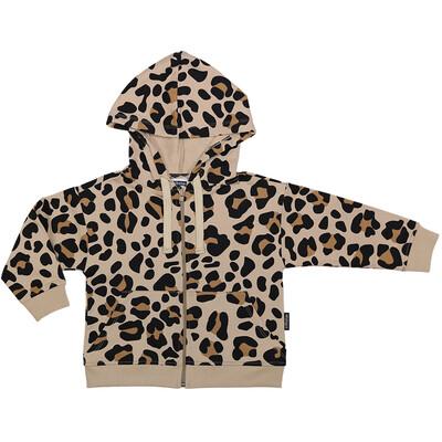 Cribstar Beige Leopard Print Hoodie & Leggings Set