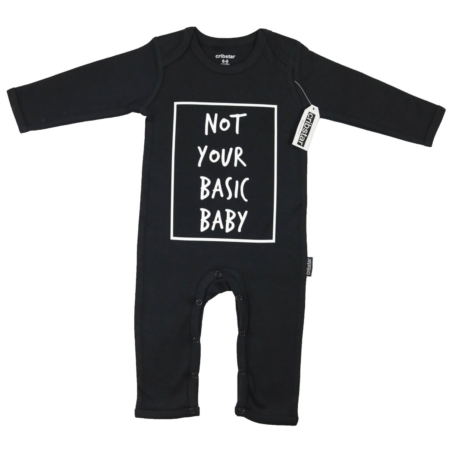 Cribstar  Not Your Basic Baby  Baby Romper - Black