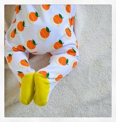 Lil' Cubs Oranges & Lemons Babygrow