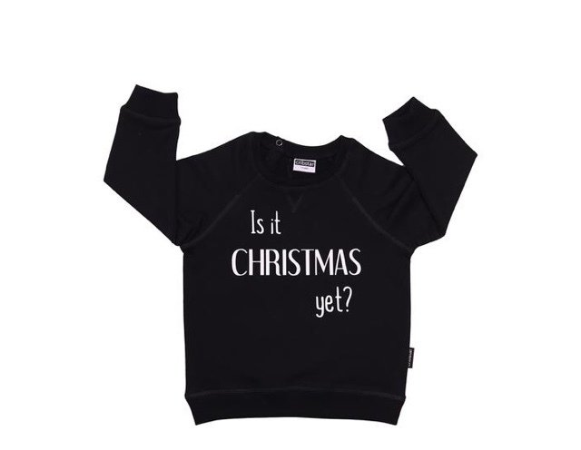 Cribstar - Is it Christmas Yet? Black & White
