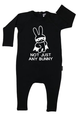Cribstar Not Just Any Bunny  Harem Romper  - Black