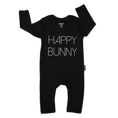 Cribstar Happy Bunny Baby Romper - Black