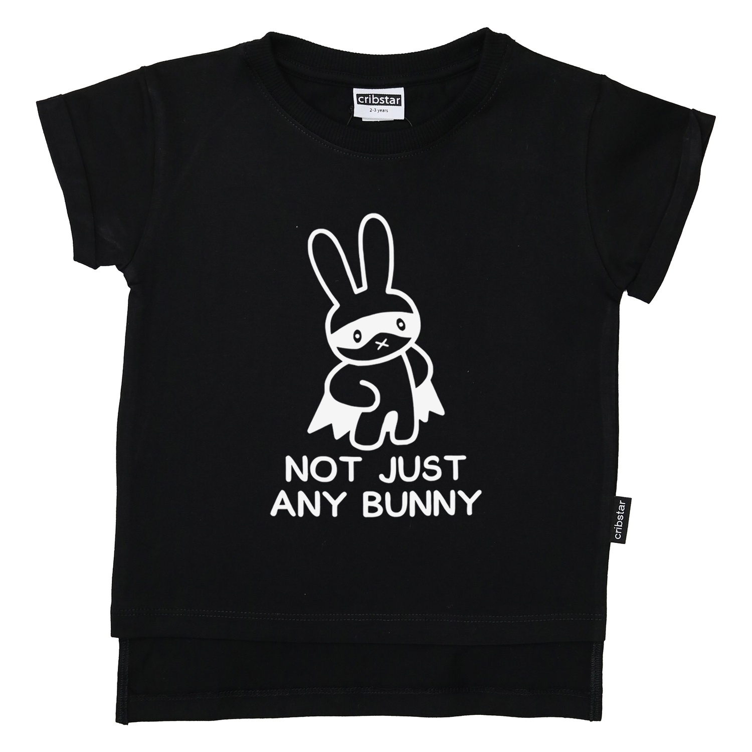 Cribstar Black Not Just Any Bunny T-Shirt
