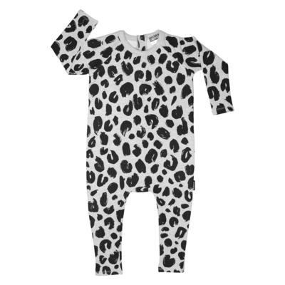 Cribstar Leopard Harem Romper  - Grey