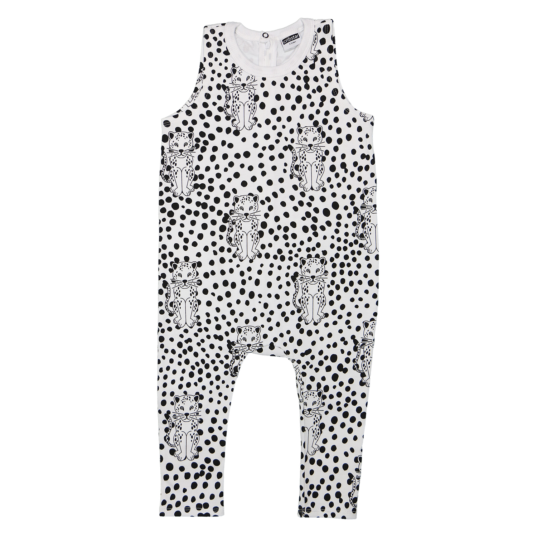 Cribstar Spotty Leapard Print sleeveless harem romper