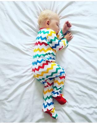 NEW - Lil' Cubs Rainbow Babygrow