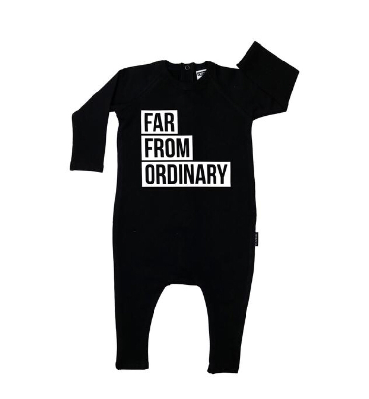 Cribstar Far From Ordinary Harem Romper - Black