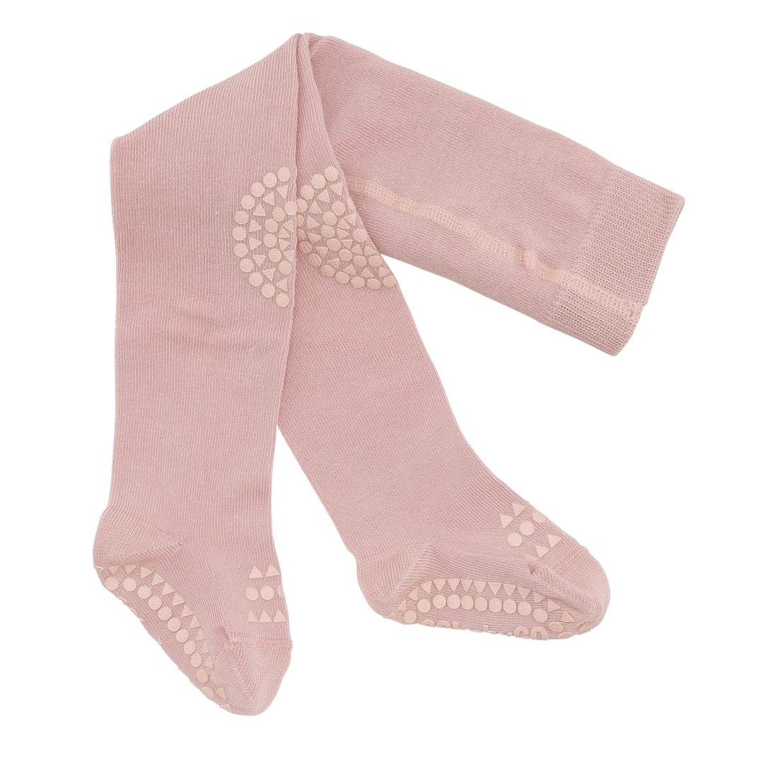 GoBabyGo Non Slip Tights - Dusty Rose Pink