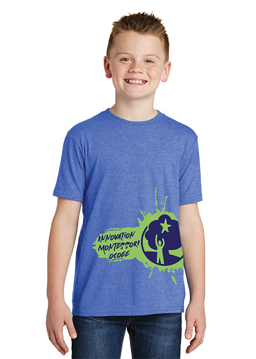 Blue IMO Splash T-Shirt YOUTH100