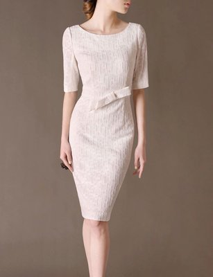 White Office Dress Elegant Outfits